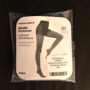 American Apparel Metallic Pantyhose - NEW